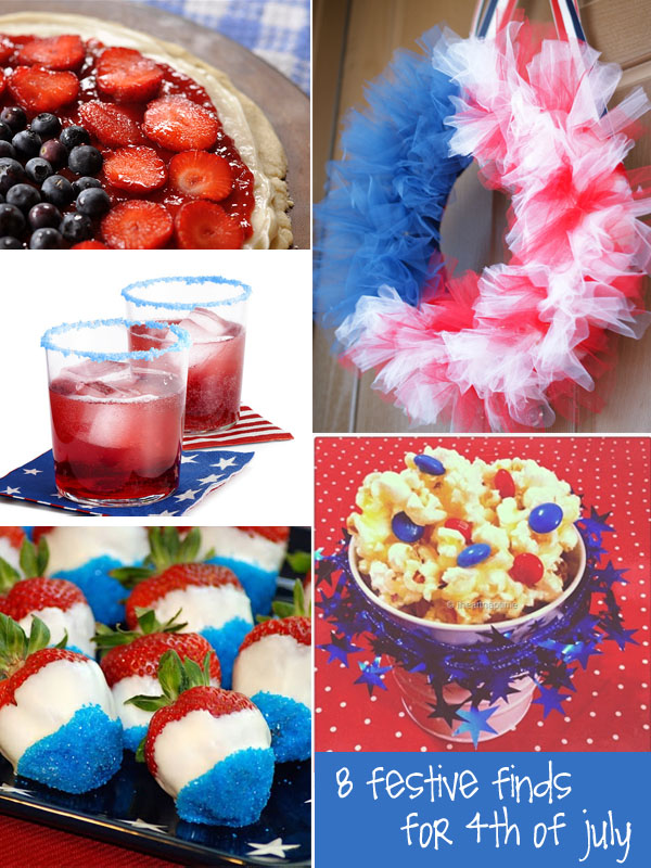 Decorations And Food For Fourth Of July