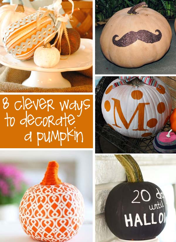 So ...  sc 1 st  catching fireflies blog & Decorate Pumpkins Without Carving   creative gift ideas u0026 news at ...