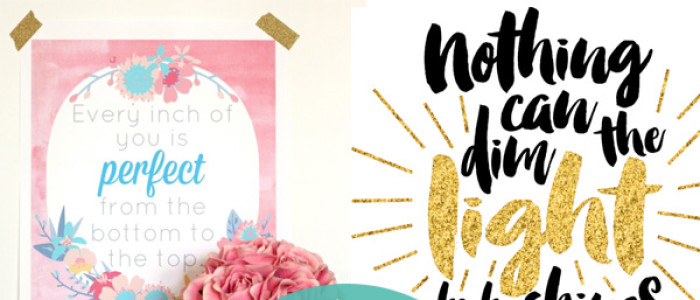 dress up your walls with a few free inspirational printables