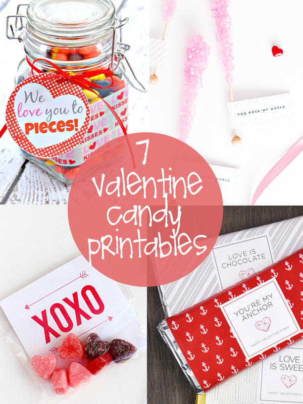 valentine candy printables - Personalized Valentine Candy