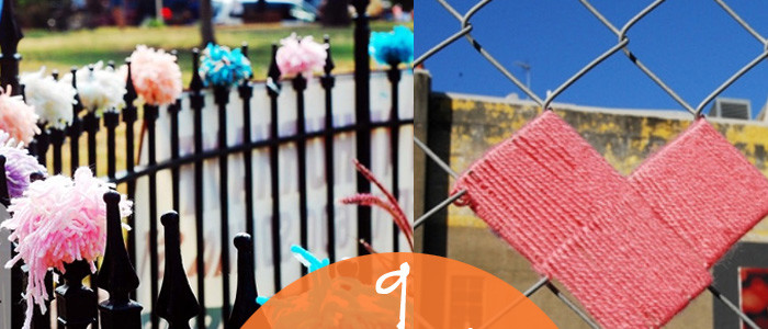 just say yes to yarnbombing