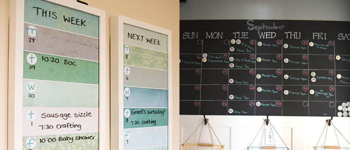 control chaos with a DIY family command center