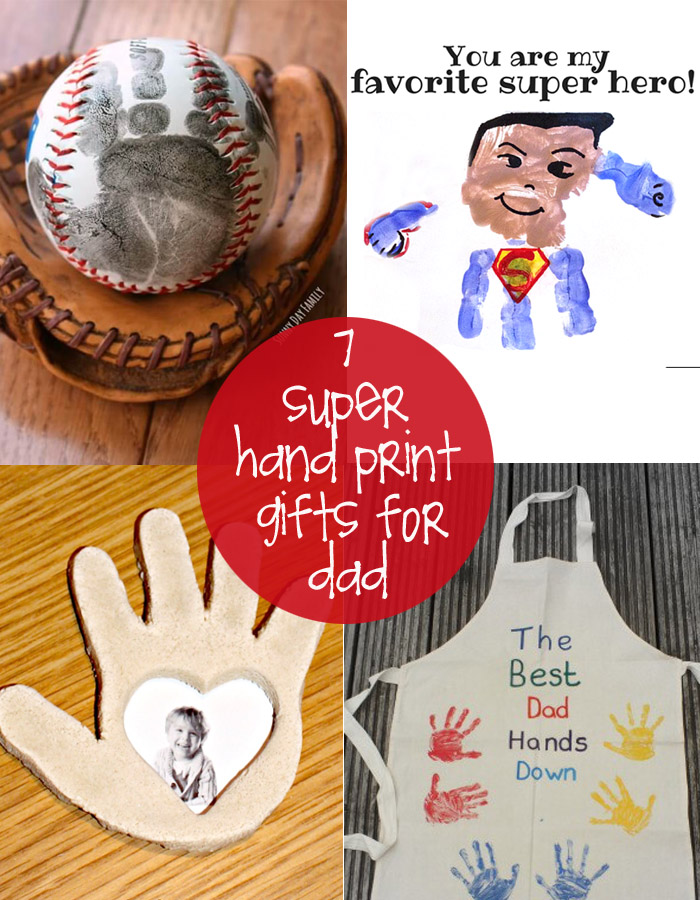 Celebrate dad this year with a homemade handprint gift for Creative gifts for dad from daughter