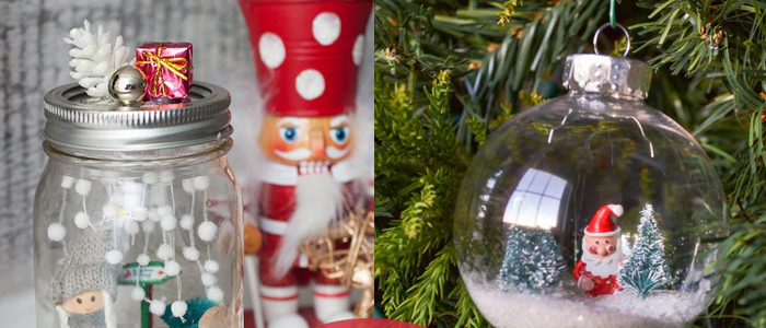 get a jump on your holiday decor this year with a diy snow globe
