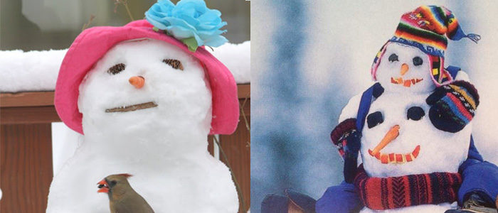a little inspiration to create your own silly snowman