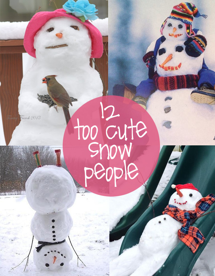 a little inspiration to create your own silly snowman ...