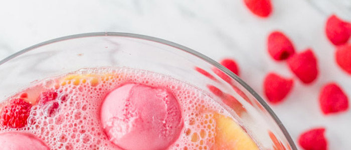 sparkling spring party punches