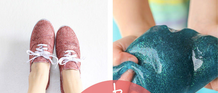 glitter crafts that are sure to sparkle & delight