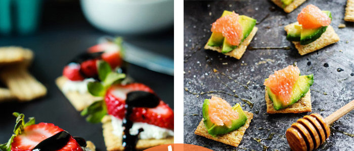 dress up a triscuit with these tasty toppings